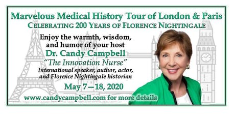 Marvelous Medical History Tour of London & Paris : Celebrating 200 Years of Florence Nightingale tickets