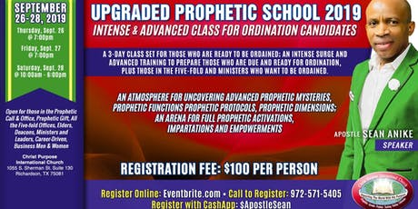 Upgraded Prophetic School [For Ordination Candidates] tickets