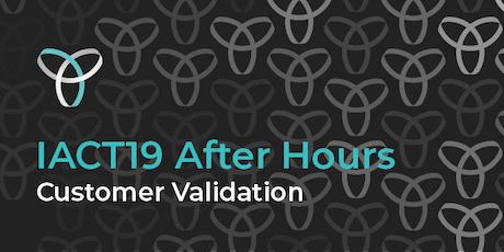 InnovationACT 2019: After Hours - Customer Validation tickets