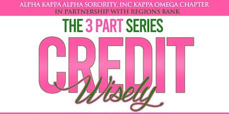 Alpha Kappa Alpha Sorority, Inc Kappa Omega The 3 Part Series Credit Wisely tickets