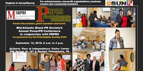 Mid-Atlantic Black PR Society annual PowerPR Conference w/ PBPRS tickets