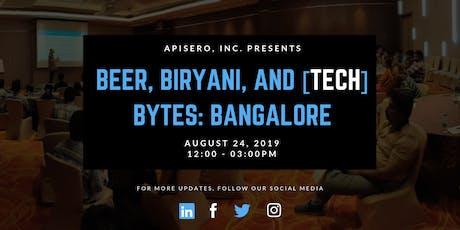 Beer, Biryani, and [tech] Bytes: Bangalore tickets