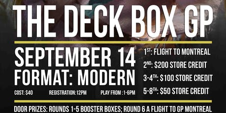 GP Deck Box tickets