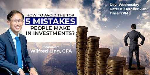 How to avoid the top 5 mistakes people make in investments?