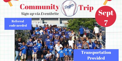 Community Back2School Dodgers Trip