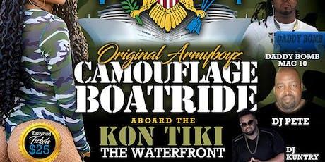 ORIGINAL ARMYBOYZ CAMOUFLAGE BOATRIDE tickets
