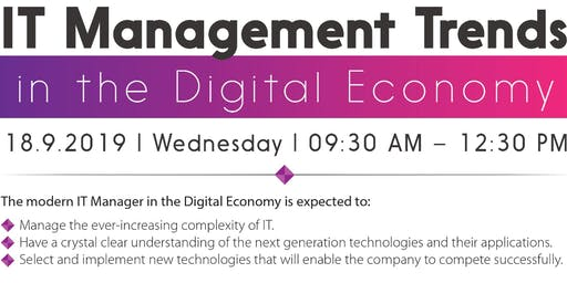 I.T. Management Trends [ Free Entry ]