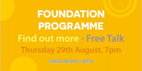 FREE TALK: Introduction to Foundation Programme tickets