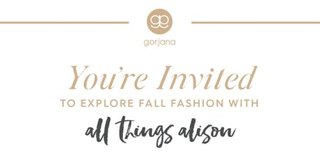 Gorjana x All Things Alison NYFW Sip & Shop tickets