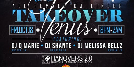 Venus Takeover ~ All Female DJ Lineup | 10.18