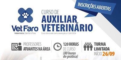 CURSO DE AUXILIAR VETERINÁRIO #VAGASLIMITADAS