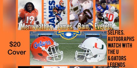 Hurricanes vs Gators WATCH PARTY with College Football Legends tickets