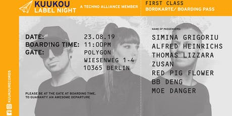 Kuukou Label Night w/ Simina Grigoriu, Alfred Heinrichs, Thomas Lizzara, … tickets