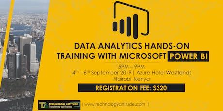 Data Analytics with Power BI Hands-on Training tickets