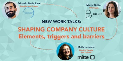 New Work Talks - Shaping company culture: elements, triggers and barriers