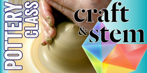 Adult Pottery Class - Saturday Afternoon - 3 pm to 5 pm