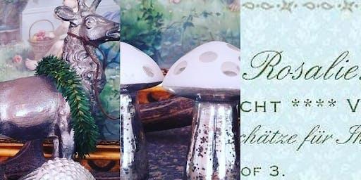 Shabby Vintage Antik Kitzingen kleines, feines Herbst Arrangement byROSALIE