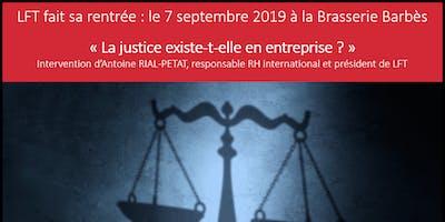 Conférence de rentrée - La Justice existe-t-elle en entreprise ?