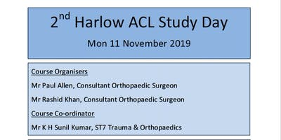 2nd Harlow Anterior Cruciate Ligament Study Day