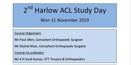 2nd Harlow Anterior Cruciate Ligament Study Day tickets