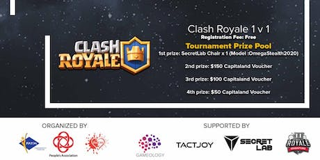 Game Fiesta (Siao Onz Edition) @ Toa Payoh East CC 2019 - Clash Royale 1 v 1 tickets