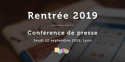 Rentrée 2019 // Conférence de Presse