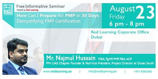 Free PMP Seminar by Najmul Hussain. How Can I Prepare For PMP in 30 Days?