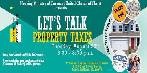 Let's Talk Property Taxes