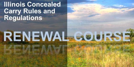 3 Hour Renewal Concealed Carry Class - Midlothian, IL tickets