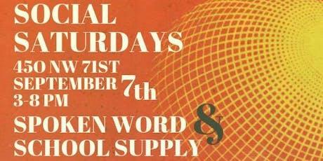 Social Saturdays + ScHoOl SuPpLy DrIvE tickets