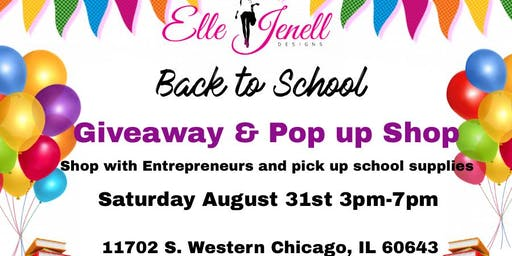 Back to School Giveaway & Pop up Shop