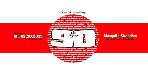 90iger Party vor dem Feiertag am Erländersee