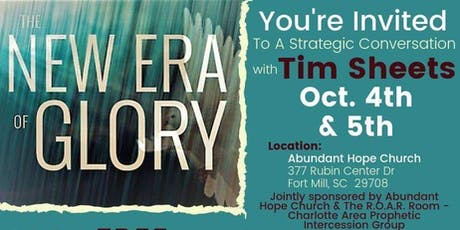 A Strategic Conversation with Tim Sheets Apostle/Author/Pastor tickets