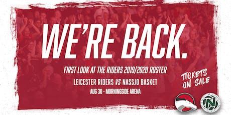 Leicester Riders Vs Nassjo Basket tickets