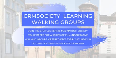 Walking Group  for Mackintosh Month -  Glasgow  East  and  City Centre tickets