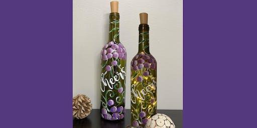 Wine Bottle Lamp - Paint and Sip Party Art Maker Class