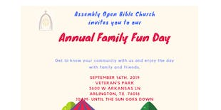 Assembly Open Bible Church Annual FamilyFun Day