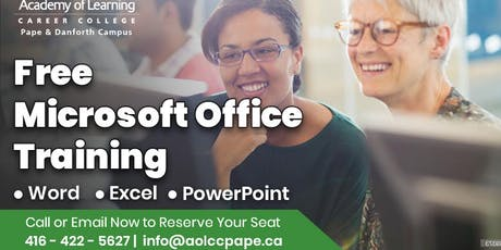 Free Microsoft Office Training tickets