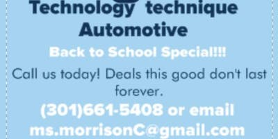 Auto Detailing with free school supplies provided