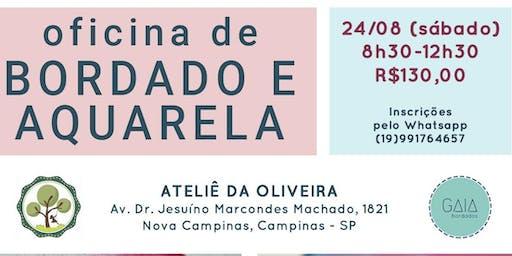 Workshop Bordado e Aquarela