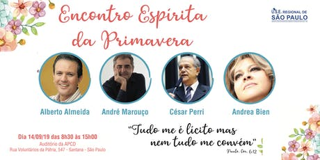 ENCONTRO ESPÍRITA DA PRIMAVERA ingressos