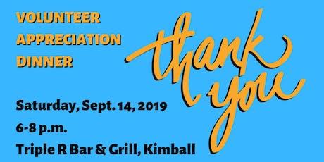 Lake Association Volunteer Appreciation Dinner tickets