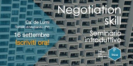 Negotiation Skill biglietti
