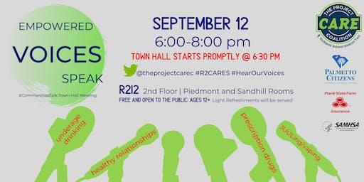 2019 #CommunitiesTalk Empowered VOICES Speak Town Hall Meeting