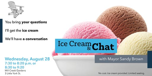 Ice Cream and Chat with Mayor Sandy Brown