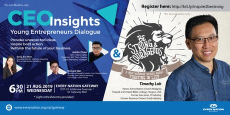 CEO Insights: Young Entrepreneurs Dialogue & Be Strong & Courageous tickets