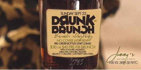 Drunk at Brunch, 2hr Open Bar Brunch + Day Party, Bdays Free Bottle tickets