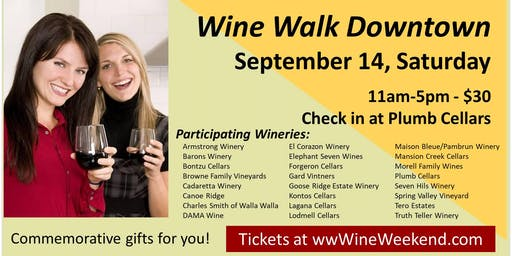 Walla Walla Wine Walk - Downtown