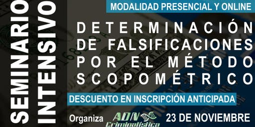 Nuevo seminario de determinación de falsificaciones (online)