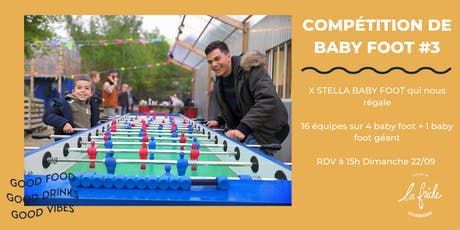 Compétition de baby foot X Stella baby foot billets